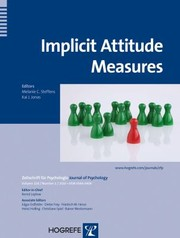 Cover of: Implicit Attitude Measures