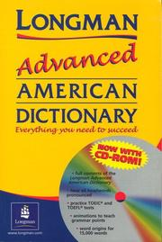 Cover of: Longman Advanced American Dictionary with CD-ROM | The Staff Of Pearson Longman