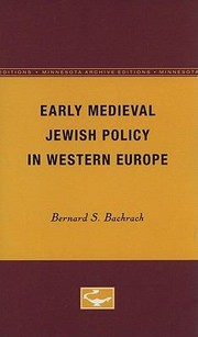 Cover of: Early Medieval Jewish Policy in Western Europe