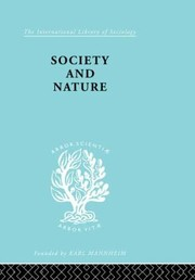 Cover of: Society and Nature
