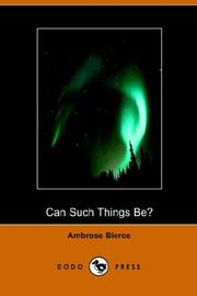 Cover of: Can Such Things Be?
