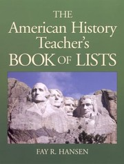 Cover of: American History Teachers Book Of Lists