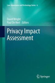 Cover of: Privacy Impact Assessment