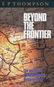 Cover of: Beyond The Frontier The Politics Of A Failed Mission