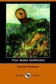 Cover of: Thus Spake Zarathustra (Dodo Press) | Friedrich Nietzsche