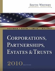 Cover of: Corporations Partnerships Estates  Trusts