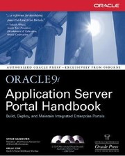 Cover of: Oracle9i Application Server Portal Handbook