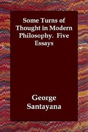 Cover of: Some Turns of Thought in Modern Philosophy (Five Essays)