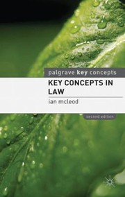 Cover of: Key Concepts In Law