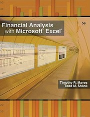 Cover of: Financial Analysis with Microsoft Excel 2007