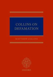 Cover of: Collins On Defamation