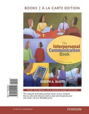 Cover of: The Interpersonal Communication Book Books A La Carte Edition
