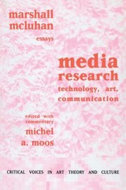 Cover of: Media Research Technology Art Communication Essays