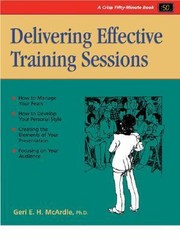 Cover of: Delivering Effective Training