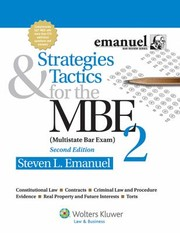 Cover of: Strategies Tactics For The Mbe 2 Mulitstate Bar Exam