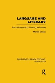 Cover of: Language And Literacy The Sociolinguistics Of Reading And Writing