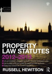 Cover of: Property Law Statutes 20122013