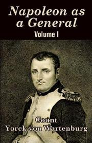 Cover of: Napoleon As a General