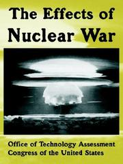 Cover of: The effects of nuclear war |