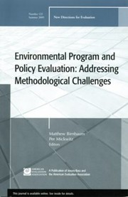 Cover of: Environmental Program And Policy Evaluation Addressing Methodological Challenges