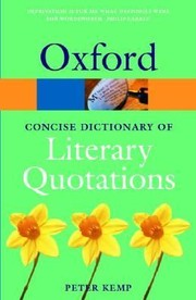 Cover of: The Oxford Dictionary Of Literary Quotations