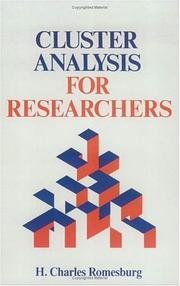 Cover of: Cluster Analysis for Researchers