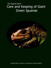Cover of: The Iguana Den's Care and Keeping of Giant Green Iguanas