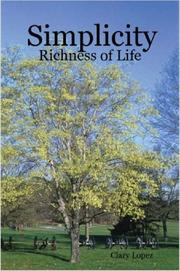 Cover of: Simplicity - Richness of Life