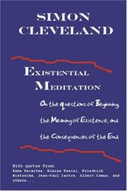 Cover of: Existential Meditation