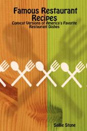 Cover of: Famous Restaurant Recipes