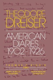 Cover of: American Diaries 19021926