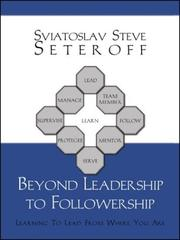 Cover of: Beyond Leadership to Followership