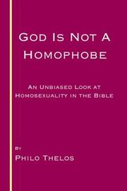 Cover of: God is not a Homophobe