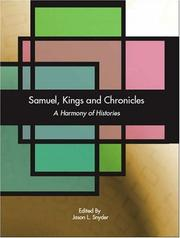 Cover of: Samuel, Kings and Chronicles