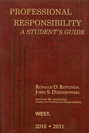 Cover of: Professional Responsibility A Students Guide