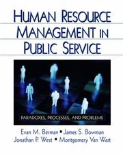 Cover of: Human Resource Management in Public Service | Evan M. Berman