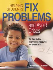 Cover of: Helping Students Fix Problems and Avoid Crises