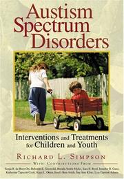 Cover of: Autism Spectrum Disorders | Richard L. Simpson