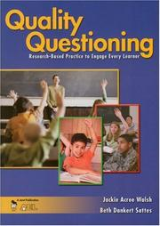 Cover of: Quality Questioning | Jackie A. Walsh