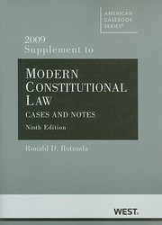 Cover of: Modern Constitutional Law 2009 Supplement