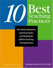 Cover of: Ten Best Teaching Practices | Donna E. Walker Tileston