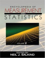 Cover of: Encyclopedia of Measurement and Statistics 3-Volume Set