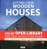 Cover of: Cuttingedge Wooden Houses