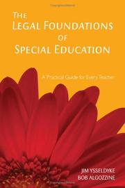 Cover of: The Legal Foundations of Special Education | James E. Ysseldyke