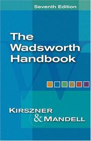 Cover of: The Wadsworth handbook