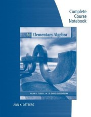 Cover of: Elementary Algebra Complete Course Notebook