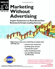 Cover of: Marketing Without Advertising | Michael Phillips