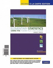 Cover of: Elementary Statistics Using The Ti8384 Plus Calculator Books A La Carte Edition