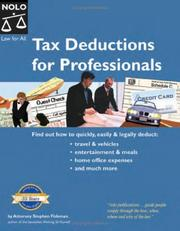 Tax deductions for professionals by Stephen Fishman