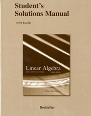 Cover of: Students Solutions Manual